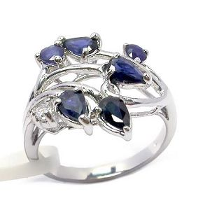 sterling silver sapphire ring blue topaz jewelry moonstone