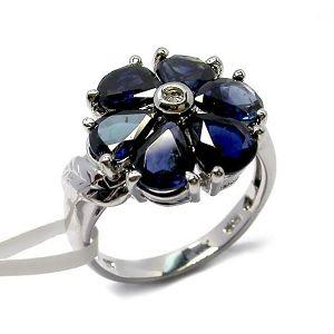 sterling silver sapphire ring stone pendant jadeite gemstone jewelry ear