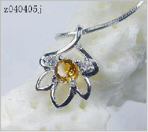 sterling silver topaz pendant jewelry 14k gold ring