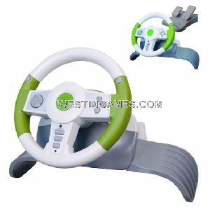 4in1 wireless game steering wheel pc ps2 ps3 xbox360