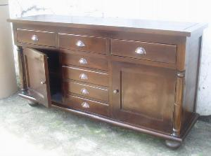 atila buffet cabinet 2 doors 7 drawers mahogany teak indoor furniture
