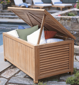 Atm 0012 Teak Laundry Box Outdoor Garden Teka Furniture Knock Down