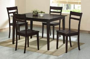 dark brown dining knock table chair mahogany teak indoor furniture