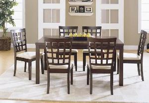 dining chair knock rectangular table indoor mahogany furniture
