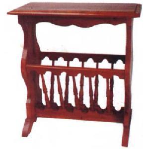 magazine rack mahogany wood