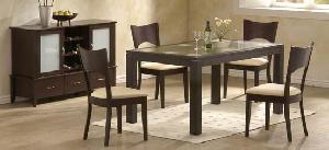 simply minimalist dining chair table mahogany teak indoor furniture