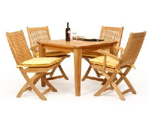 solo java garden folding square table teak outdoor furniture