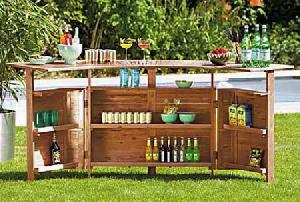 Teak Outdoor Bar Table Garden Furniture