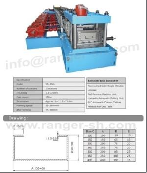 c channel roll forming machine beam