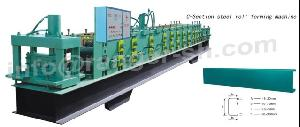 c channel roll forming machine section