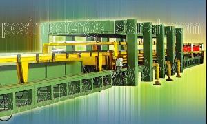 discontinuous pu sandwich panel line machine