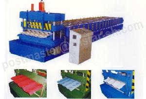 glazed tile roll forming machine roof