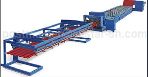steel tile roll forming machine step
