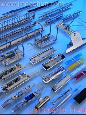 desktop office stapler stationery clips binder finger metal
