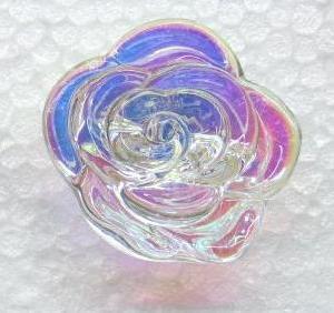flower glass bead button canton fair