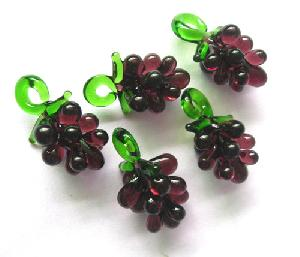 grape glass charms