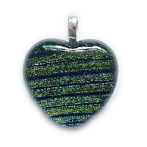 italy heart murano glass pendant