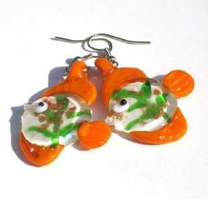 murano glass earring
