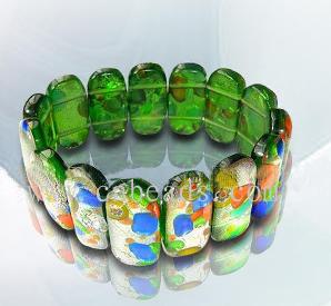 murano stone glass bracelets