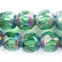 plated glass crystal beads