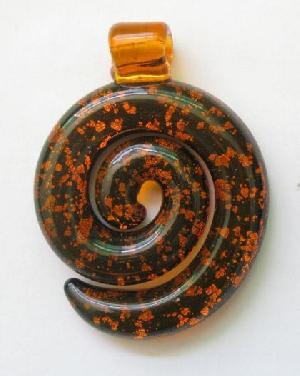 wholesale murano spiral glass pendant