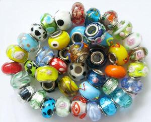 wholesale pandora glass beads