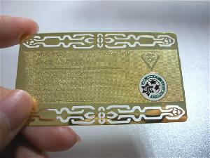 golden metal card manufacturer