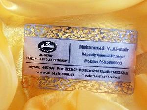 silver golden metal card