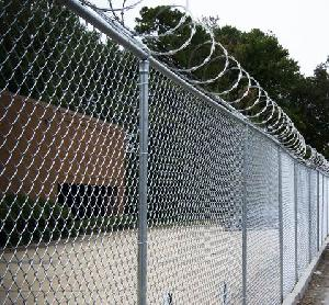 chain link razor wire fencing system
