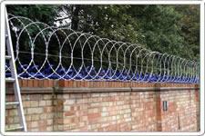 concertina razor wire wall