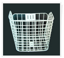 wire basket shopping trolley