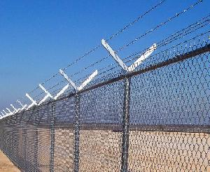 y frame barbed wire chain link mesh fence