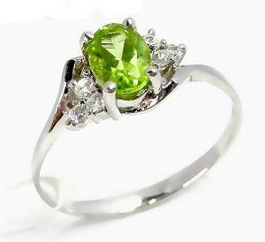 factory sterling silver olivine ring jewelry cz tourmaline pendant ri