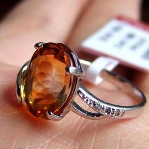 manufactory sterling silver citrine ring amethyst pendant sapphire earring rin