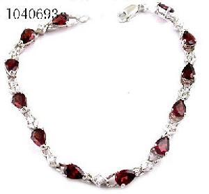 manufactory sterling silver garnet bracelet moonstone pendant gemstone jewelry