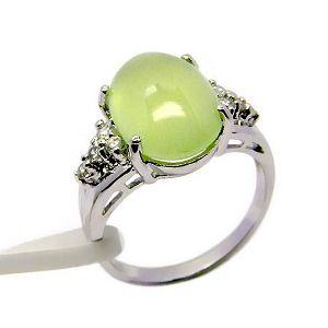 manufactory sterling silver prehnite ring moonstone pendnat jewlery gemstone r