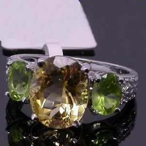 sterling silver mix gem ring gemstone jewelry tourmaline pendant sapphire earring