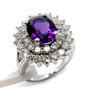 sterling silver amethyst ring earring rainbow stone pendant gemstone jewlery