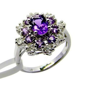 sterling silver amethyst ring gemstone jewelry sapphire earring