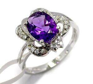 sterling silver amethyst ring gemstone jewelry olivine sapphire pendant ear