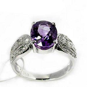 sterling silver amethyst ring prehnite bracelet garnet earring fashion cz jewelry