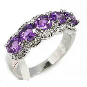 sterling silver amethyst ring prehnite bracelet jewelry garnet earring
