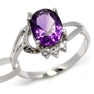 sterling silver amethyst ring smoky quartz earring garnet pendant prehnite