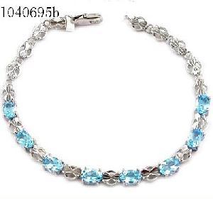 sterling silver blue topaz bracelet olivine ring prehnite pendant garnet