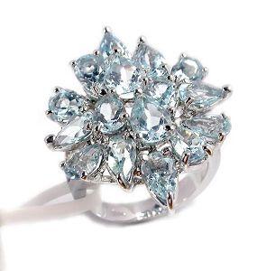 sterling silver blue topaz ring fashion jewlery citrine bracelet olivine pend