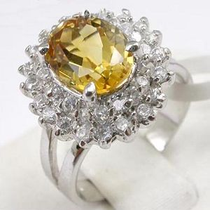 sterling silver citrine ring gemstone jewelry tourmaline pendant