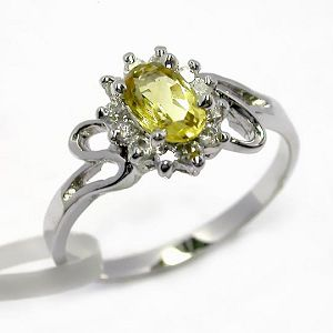 sterling silver citrine ring gemstone jewelry stup earring cz brass