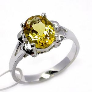 sterling silver citrine ring olivine pendant fashion cz jewelry