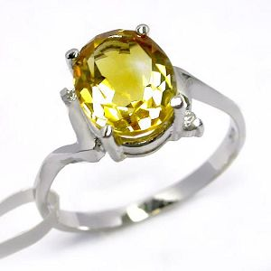 sterling silver citrine ring smoky quartz pendant prehnite earring garnet