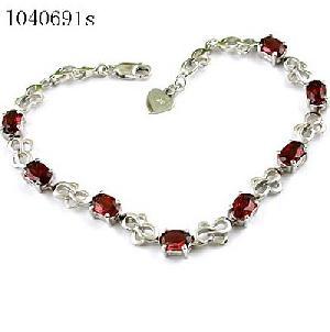sterling silver garnet bracelet olivine pendant rainbow stone amethyst earri